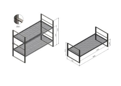 Двуетажно легло 2